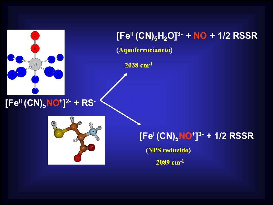 [FeII (CN)5H2O]3- + NO + 1/2 RSSR